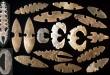 Güney Amerika yerli halkında kesici taş aleti sanatı.