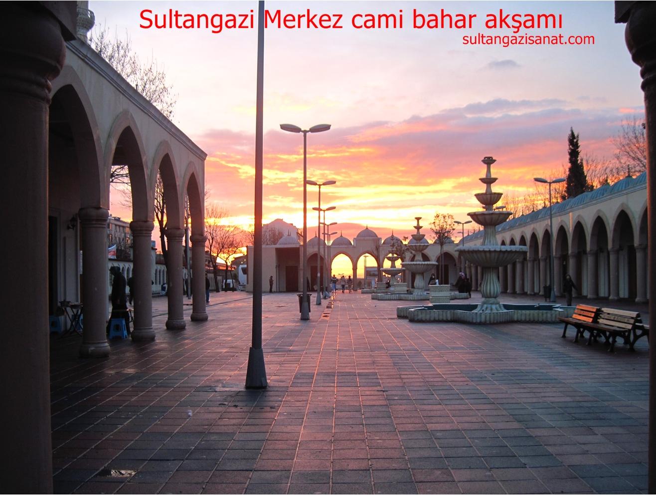 Sultangazi Merkez cami bahar akşamı1